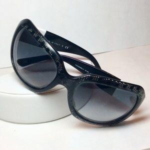 CHANEL Black Lace Designer Sunglasses $600